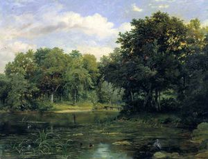 Frederick Richard Lee - Lake In A Park