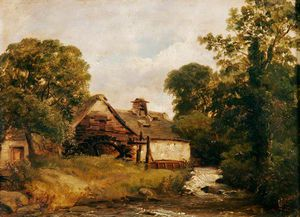 Frederick Richard Lee - Mill On The Ogwen River