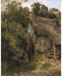 Frederick Richard Lee - The Old Water-mill