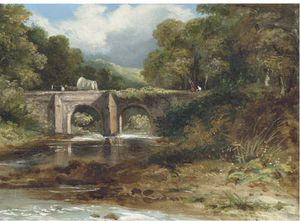 Frederick Waters (William) Watts - Crossing The Bridge