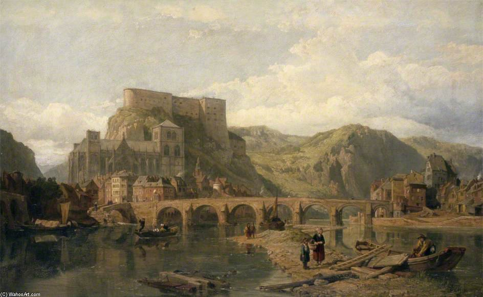 Huy On The Meuse, Belgium by George Clarkson Stanfield (1793-1867, United Kingdom)