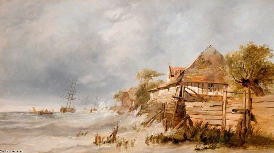 Off The Dutch Coast by George Clarkson Stanfield (1793-1867, United Kingdom)