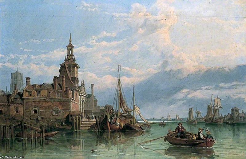 Rotterdam by George Clarkson Stanfield (1793-1867, United Kingdom)