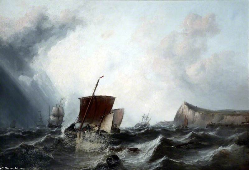 Seascape by George Clarkson Stanfield (1793-1867, United Kingdom) | Museum Quality Reproductions | WahooArt.com