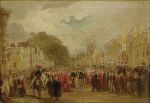 George Jones - H.R.H. The Prince Regent Received By The University And City Of Oxford
