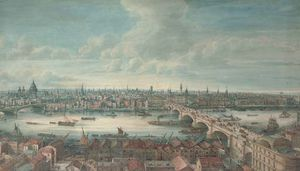 Gideon Yates - View Of The River Thames With Blackfriars Bridge, St Paul-s, London Bridge And The Monument