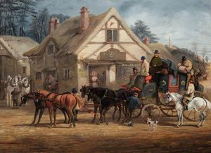 Henry Thomas Alken - A Halted Mail Coach
