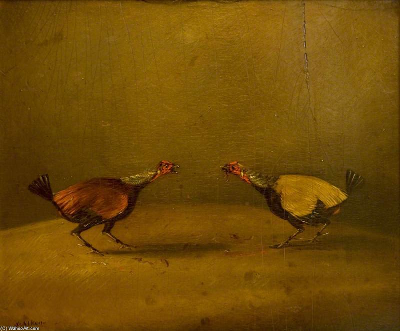 Cockfighting - by Henry Thomas Alken (1785-1851, United Kingdom) | Museum Quality Reproductions | WahooArt.com