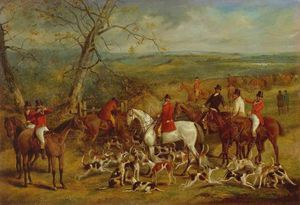 Henry Thomas Alken - The Belvoir Hunt - The Meet