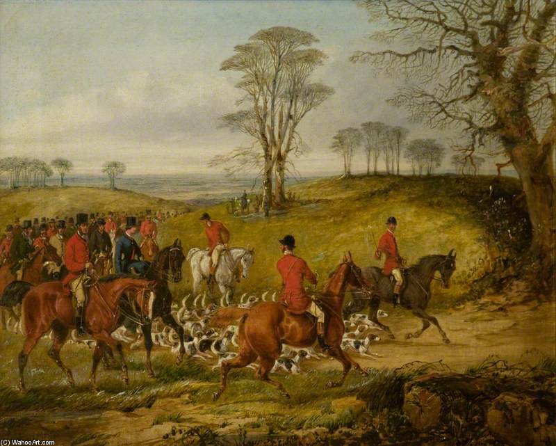 The Meet by Henry Thomas Alken (1785-1851, United Kingdom) | Oil Painting | WahooArt.com