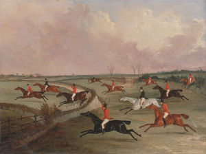 Henry Thomas Alken - The Quorn Hunt In Full Cry- Second Horses