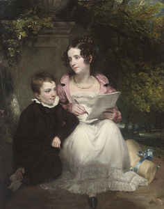 Henry William Pickersgill - Portrait Of A Brother And Sister
