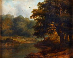 James Arthur O Connor - Landscape With A Stream And Woods