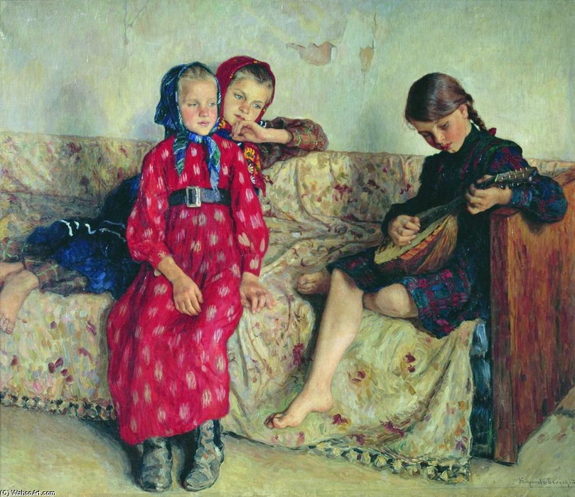 Country Friends by Nikolai Petrovich Bogdanov Belsky | Museum Quality Reproductions | WahooArt.com