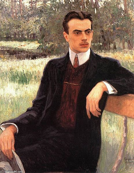 Portrait Of N. F. Yusupov by Nikolai Petrovich Bogdanov Belsky | Art Reproduction | WahooArt.com