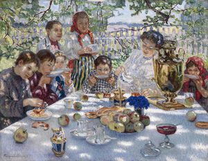 Nikolai Petrovich Bogdanov Belsky - The Teacher's Name-day