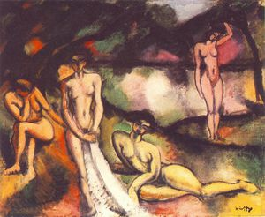 Odon Marffy - Composition With Nudes