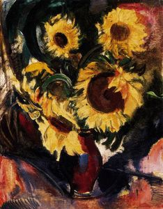 Odon Marffy - Still-life With Sunflowers