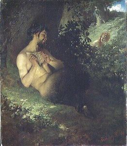 Pal Szinyei Merse - Faun And Nymph -