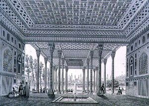 Pascal Xavier Coste - Interior View Of The Pavilion Of Mirrors, Isfahan