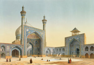 Pascal Xavier Coste - View Of The Courtyard Of The Mesdjid-i-shah
