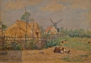 Paul Baum - The Windmill In -t Kalf, Knokke
