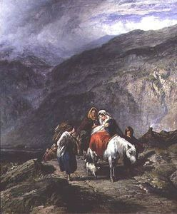 Paul Falconer Poole - Gypsy Family On A Mountain Track