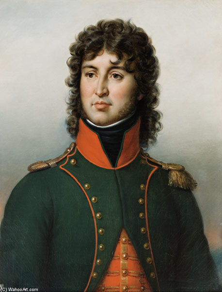 Portrait Of Joachim Murat King Of Naples, 1767 by Paulin Jean Baptiste Guerin (1783-1855, France) | Famous Paintings Reproductions | WahooArt.com