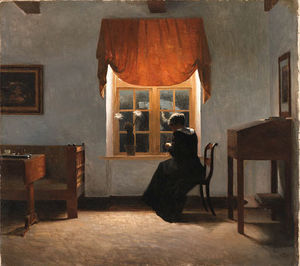 Peder Vilhelm Ilsted - A Woman Knitting