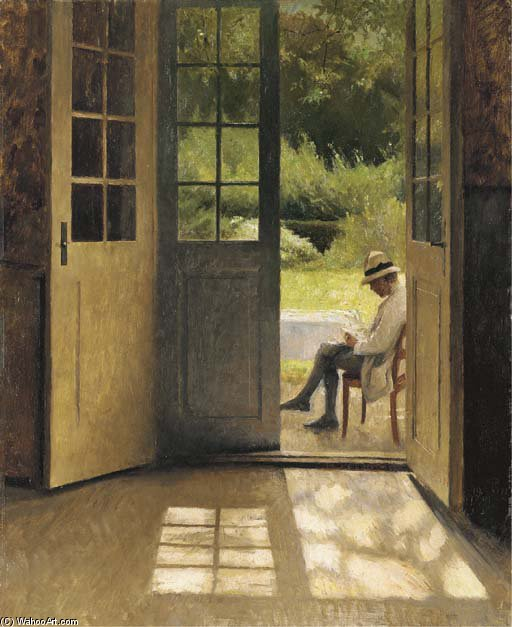 The Open Door by Peder Vilhelm Ilsted (1861-1933, Denmark) | Art Reproductions Peder Vilhelm Ilsted | WahooArt.com