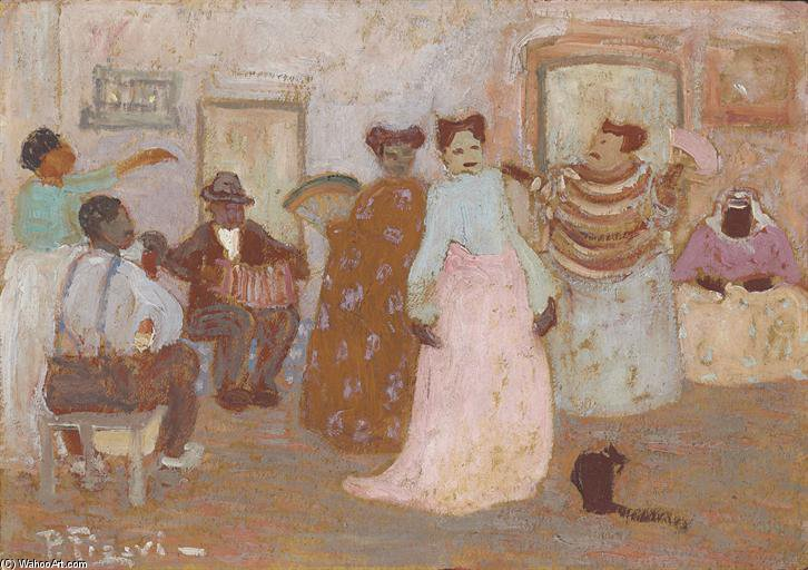 Negros Y Mulatas by Pedro Figari (1861-1939, Uruguay) | Oil Painting | WahooArt.com