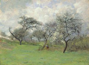 Order Painting Copy : April by Pericles Pantazis (1849-1884, Greece) | WahooArt.com