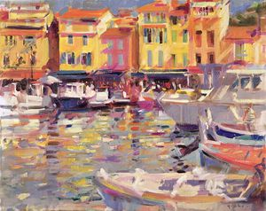 Peter Graham Ii - Harbour At Cassis