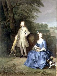 Peter Tillemans - Portrait Of Master Edward And Miss Mary Macro