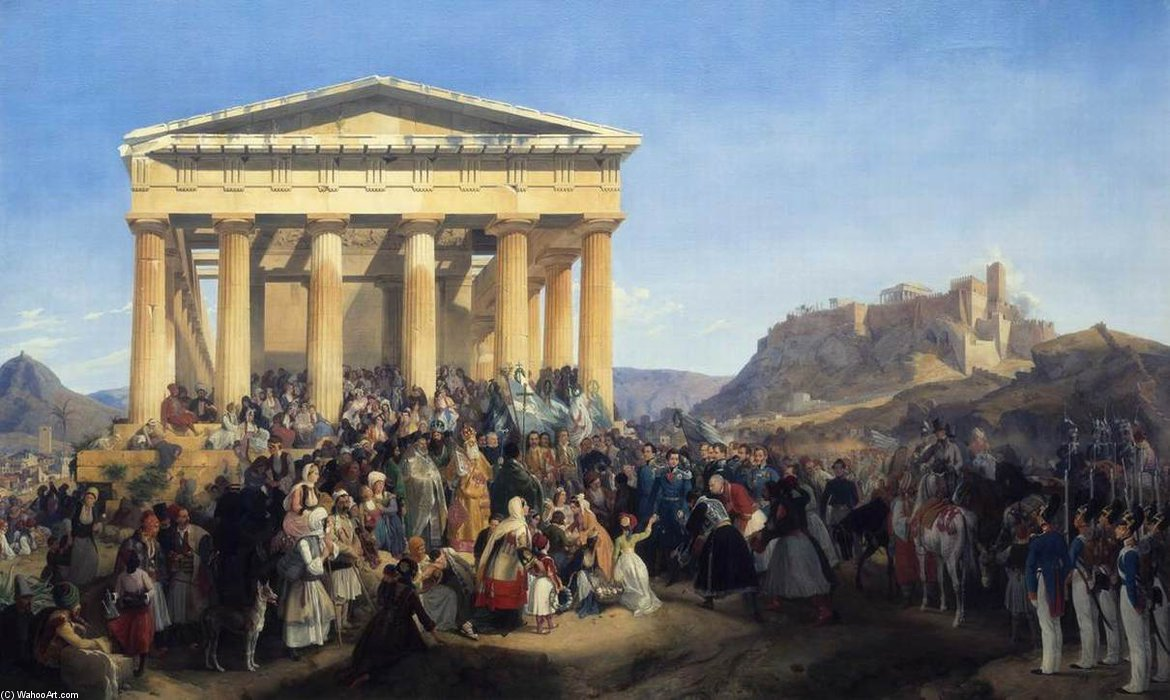 Order Art Reproductions | The Entry Of King Othon Of Greece In Athens by Peter Von Hess (1792-1871, Italy) | WahooArt.com