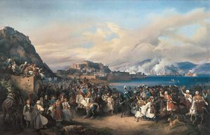 Peter Von Hess - The Entry Of King Othon Of Greece Into Nauplia