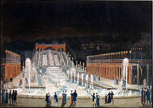 Philibert Louis Debucourt - Illumination Of The Saint-cloud Fountain, 1st April