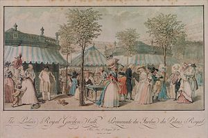 Philibert Louis Debucourt - The Palais Royal Garden Walk