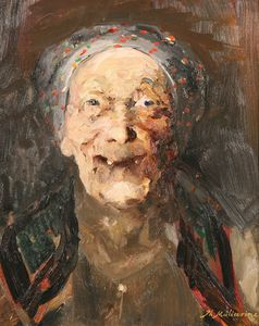 Philip Maliavin - Laughing Peasant Woman