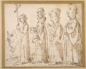 Pier Leone Ghezzi - A Jesuit Procession, Caricatured With