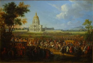 Pierre Denis Martin (Dit Martin Le Jeune) - Louis Xiv Visiting The Hôtel Royal Des Invalides