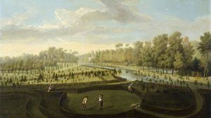 Pieter Andreas Rysbrack - A View Of Chiswick House Gardens From The West Towards The Bagnio