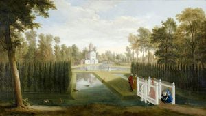 Pieter Andreas Rysbrack - A View Of Chiswick House Gardens
