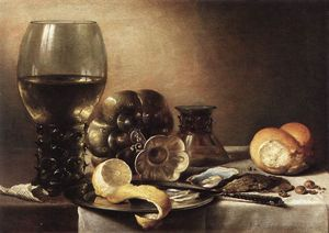 Pieter Claesz - Still-life With Oysters