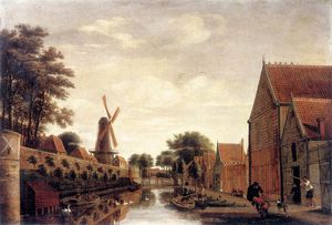 Pieter Jansz Van Asch - The Delft City Wall With The Houttuinen