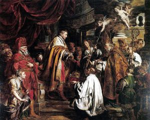 Pieter Jozef Verhaghen - Saint Stephen Hungarian King Receives The Pope-s Envoys Who Bring The Crown
