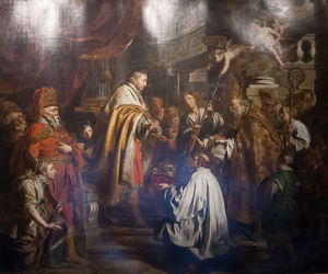 Pieter Jozef Verhaghen - Saint Steven Hungarian King Receives The Pope-s Envoys Who Bring A Crown