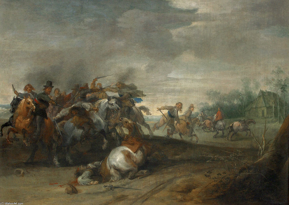 Order Museum Quality Copies | Cavalry Charge by Pieter Meulener (1602-1654, Belgium) | WahooArt.com