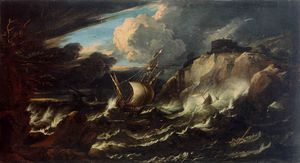 Pieter The Younger Holsteyn - Storm At Sea