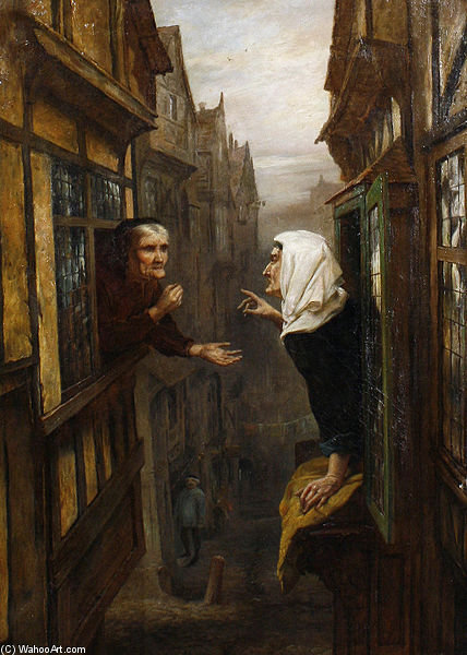 An Argument From Opposite Premises by Ralph Hedley (1848-1913, United Kingdom) | WahooArt.com